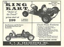 Vintage & Very Rare 1960 King Kart Go-Kart Ad