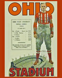 1924 OHIO STATE 8X10 TEAM PHOTO BUCKEYES PICTURE NCAA FOOTBALL OHIO STADIUM