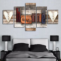 5pcs Modern Canvas Painting Photo Wall Art Home Decor Picture Print Decor Set