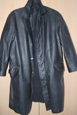 Man's Military Genuine German Firefighter Leather Coat Jacket 50 / UK 40 / Med