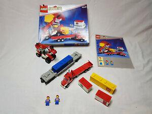 Lego 4549 Eisenbahn 9v Containertransportwagen mit OVP+ Anleitung 100% komplett!
