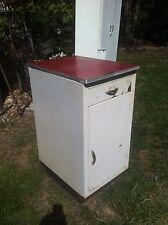Vintage 50s Metal Kitchen Laundry Room Storage Cabinet