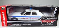 Dodge Monaco 1974 Chicago Police weiß Modellauto 1 18 Auto World