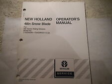 """New Holland 48"""" SNOW BLADE FOR MZ RIDING MOWERS Operator's Manual"""