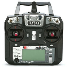 Flysky FS-i6X 2.4GHz 10CH AFHDS 2A RC Transmitter with FS-IA6B Receiver Black