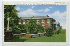 Cooper Hall Entrance to Sun Dial Court Shorter College Rome Georgia postcard