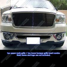 Fits 2006-2008 Ford F-150 Black Billet Grille Insert Combo 2007