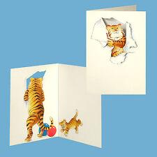 150 Tiger,Elephant,Giraffe,Ostrich,Monkey and Kangaroo Blank Gift Cards EG0031