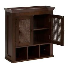 Elite Home Fashions 6018 Cane 2 Door Wall Cabinet With Cubbies  sc 1 st  eBay & Elegant Home Fashions Brown Medicine Cabinets for sale | eBay