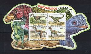 Guinea Bissau - Dinosaurs / Wild Animals on postage stamps - MNH** AM3