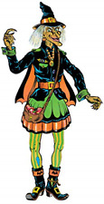 """Beistle 00455 Vintage Halloween Jointed Witch 57"""" Multicolored"""