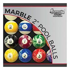 "Professional Kelly Pool Snooker Billiard Marble Marbleised Balls 2"" Inch"