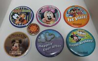 Disney Buttons LOT OF 7 Goofy Minnie Mickey DCA Disneyland
