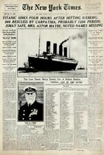 Titanic York Times Poster 61x91cm Newspaper HISTORIC Partial List of Saved