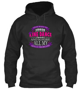 Just Want To Line Dance Standard College Hoodie - Poly/Cotton Blend