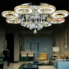 Modern Luxury LED K9 Crystal Ceiling Lamps Pendant Light Living Room Chandelier