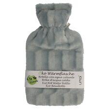 Öko Wärmflasche 2 Liter kuschliger Bezug Wärmeflasche Überbezug Flasche Gummi