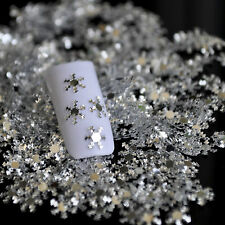 Bottle of Nail Art DIY Material Silver PET Snowflake Snow Flakes New Arrival
