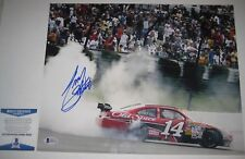 TONY STEWART Signed Racing 11x14 PHOTO with Beckett COA