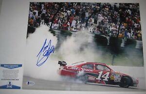 TONY STEWART Signed Racing 11x14 PHOTO with Beckett COA