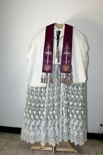 Superb Stole White And Purple Reversible Years 1940