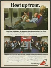 TWA-Trans World Airlines - Best up front.- 1982 Vintage Print Ad