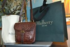 MULBERRY bag NILE LEATHER VINTAGE crossbody shoulder brown dustbag and giftbag !
