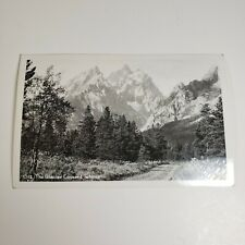 Glacier Covered Tetons Jackson Wyoming Teton Early 1900s RPPC Photo Postcard