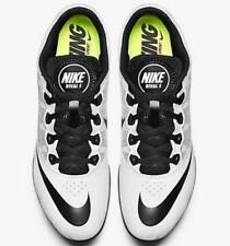 NIKE Zoom Rival S 7 Track Field Running Shoes Sprint Spikes White Black US 9