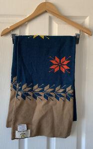 Lyle & Scott universal works collaboration blue 100% new wool scarf