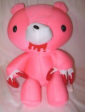 """Snow Foam Micro Beads 16""""-18"""" Japanese Pink Bear Bloody Paws Cushion Pillow-New!"""