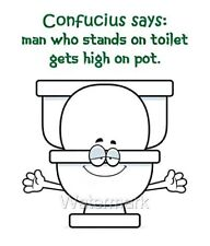 Man On Toilet High On Pot Funny Gag Gift Fridge Magnet Free Shipping