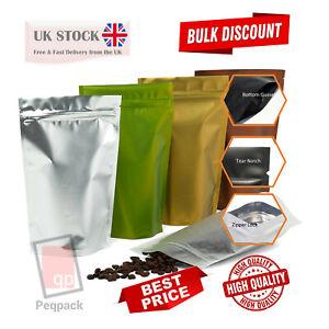 Matte Metallised Stand Up Pouches Mylar Food Grade Zip Lock Heat Resealable Bag