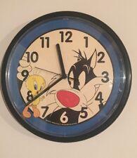 Westclock TM 1994 Warner Bros Tweety Bird Sylvester Wall Clock Looney Tunes