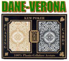 Carte KEM ARROW WIDE JUMBO Acetato - Dorso Nero/Oro -2M