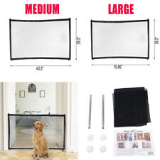 Pet Dog Baby Safety Gate Mesh Fence Portable Guard Indoor Home Kitchen net US QW
