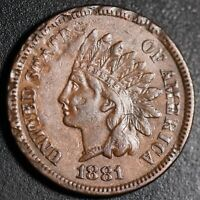 1881 INDIAN HEAD CENT - With LIBERTY & DIAMONDS - XF EF Details