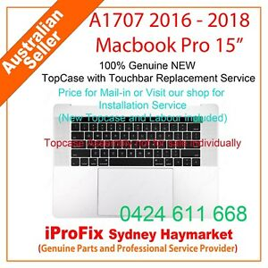 """NEW Keyboard For Apple Macbook Pro 15"""" Touch Bar A1707 2016-2018 Topcase"""