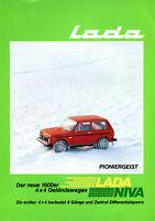 Lada Niva 1600 Swiss market German text sales brochure