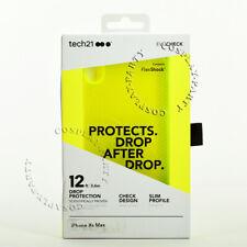 Tech21 Evo Check iPhone Xs Max FlexShock Snap Case Cover - Neon Yellow / Clar