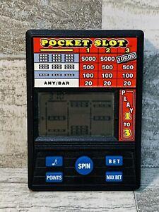 Radica Pocket Slot Machine Casino Electronic Handheld Video Game 1370 WORKS!