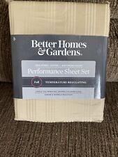 New Better Homes & Gardens Performance 400 Thread Count Sheet Set Full ~ Tan