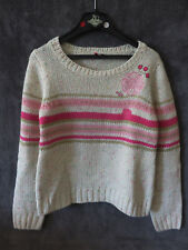 PULL BEIGE ET ROSE  ♥ ORCHESTRA  ♥ T 8 ANS TTBE +++ ☺