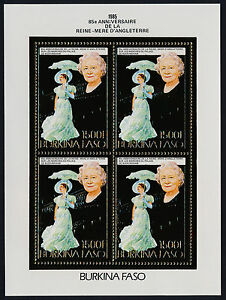 Burkina Faso 706A sheet MNH Queen Mother 85th Birthday