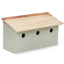 Wooden Bird Nesting Box Wild Sparrow Loft Terrace Garden Gift Plant Theatre