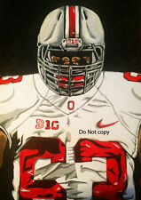 Michael Bennett Ohio State Painting signed