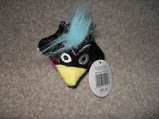 Brand new bird brains soft toy with clip (Black) unwanted gift