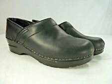 DANSKO Womens Slip on Clogs Professional Black Leather Shoes  EU 36