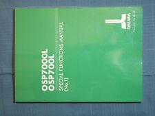 BOOK OKUMA LATHE OSP7000L OSP700L SPECIAL FUNCTIONS MANUAL NO. 2 PUB. No. 3816-E