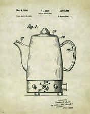 Coffee Shop Patent Poster Art Print Beans Maker Grinder Roaster Doughnut PAT350